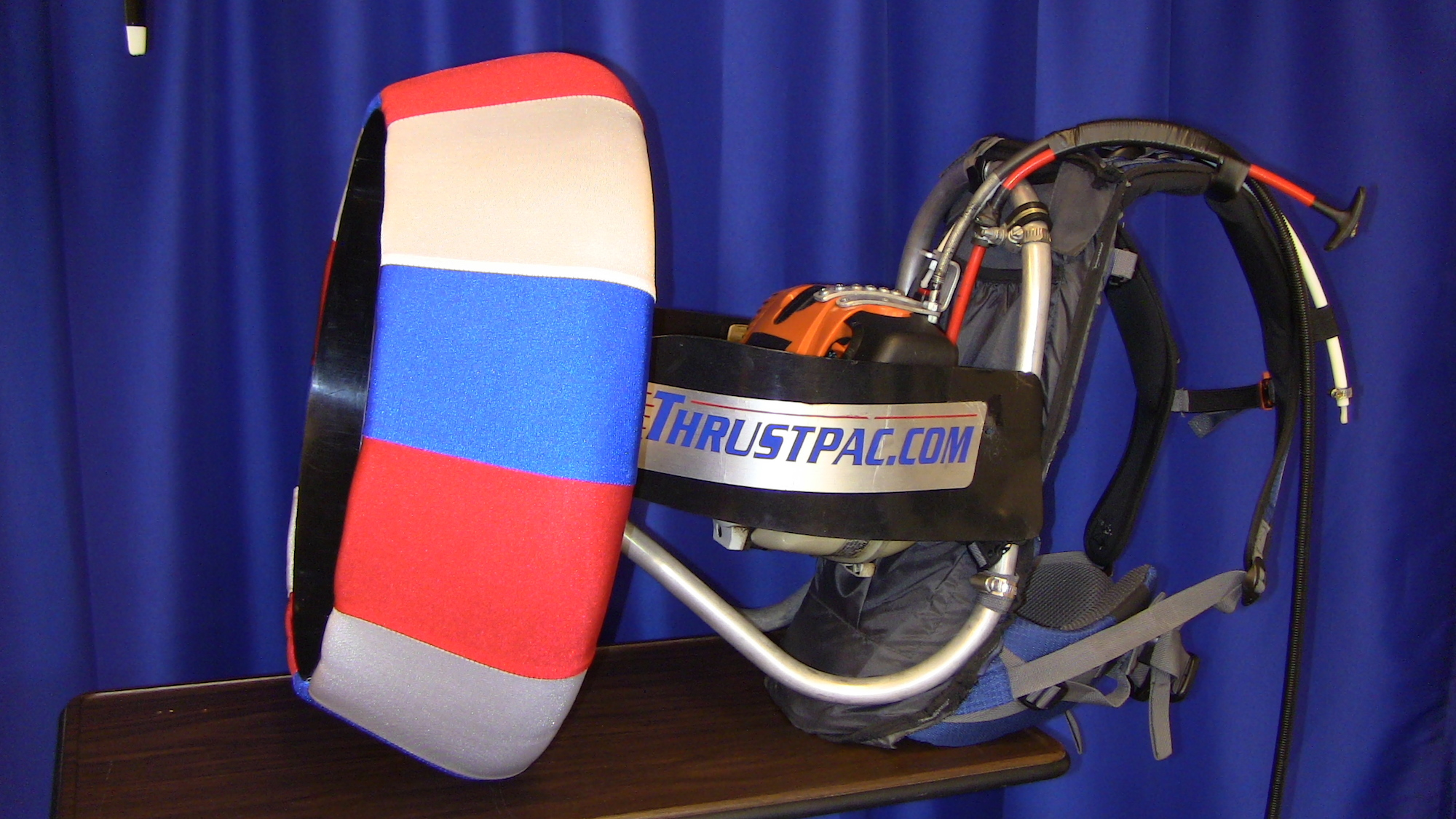 A red white & blue ThrustPac